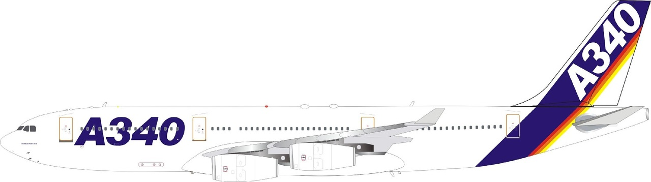 Inflight 200 Airbus House colors A340-200 F-WWAI with stand Scale 1/200 IF342AIRBUS01